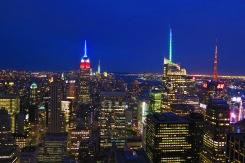 Vue de la ville de New-York du haut du Rockefeller Center