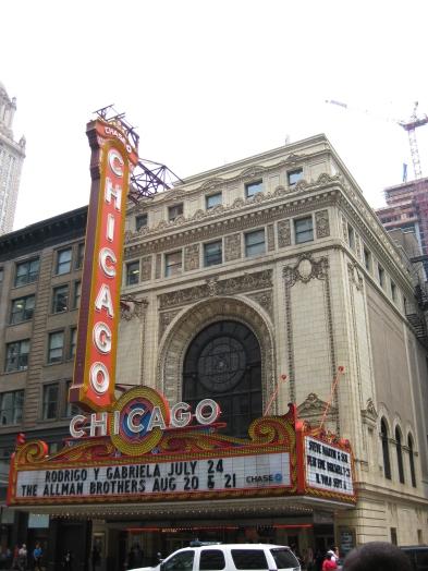 Façade du Chicago Theater. / Chicago Theater facade