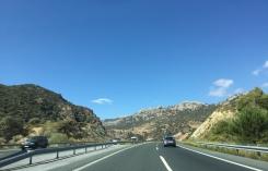Les montagnes (entre Carthagène et Grenade). / The mountains (between Cartagena and Granada).