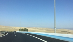 Paysage désertique (entre Séville et Cordoue). / Desert landscape (between Seville and Cordoba).