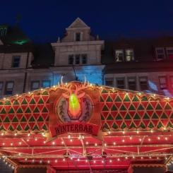 Winterbar (bar d'hiver) au marché de Noël Allemand