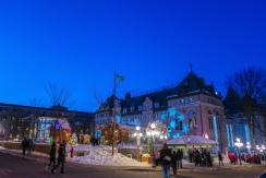 L'Hôtel de Ville de Québec et le marché de Noël Allemand.