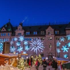 Marché de Noël Allemand aux pieds de l'Hôtel de Ville.