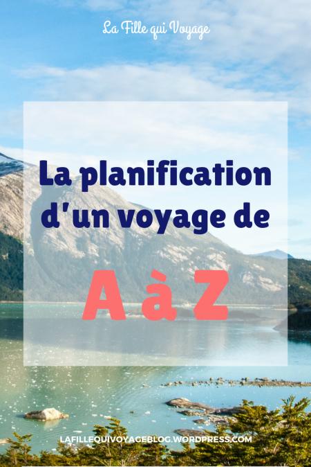 Planification voyage de A à Z