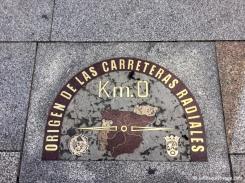 Kilomètre Zéro de l'Espagne à la Plaza Puerta del Sol. / Spain's Kilometre Zero, at Plaza Puerta del Sol.