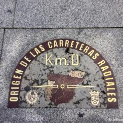 Madrid - Kilomètre Zéro de l'Espagne à la Plaza Puerta del Sol. / Spain's Kilometre Zero, at Plaza Puerta del Sol.