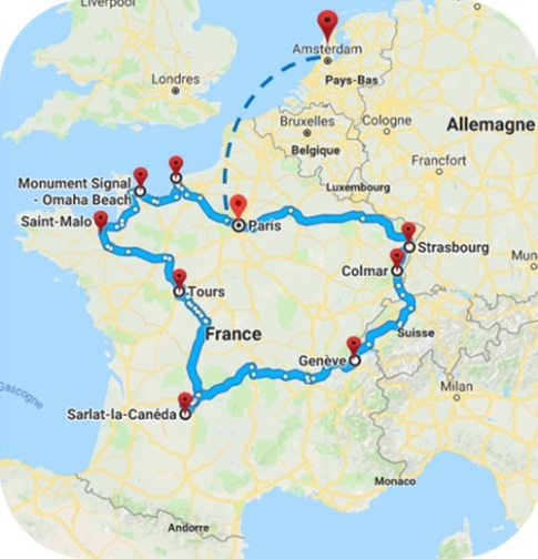Itinéraire road-trip France 2018