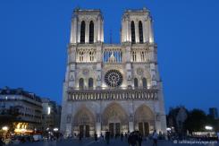 Cathédrale Notre-Dame à la tombée du jour