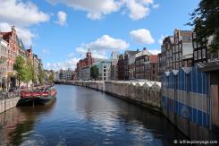 Amsterdam - Marché aux fleurs sur le canal