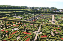 Une partie des jardins du Château de Villandry