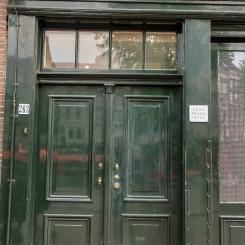Porte de la maison d'Anne Frank
